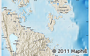 Shaded Relief Map of Surigao