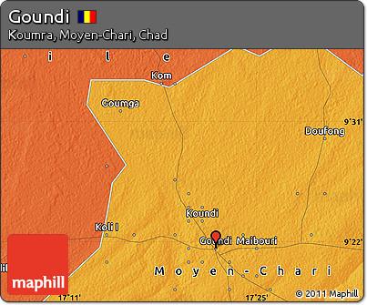 Free Political Map of Goundi