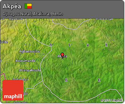 Satellite Map of Akpéa