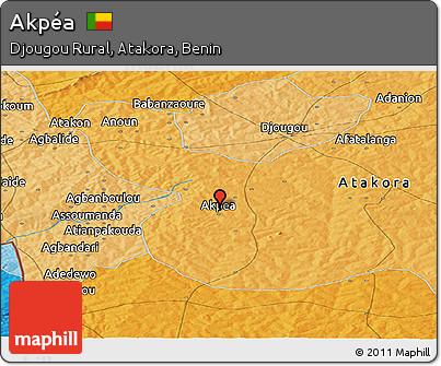 Political Panoramic Map of Akpéa