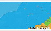 Political 3D Map of Massèmbagne