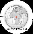 Outline Map of Massèmbagne, rectangular outline