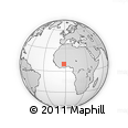 Outline Map of Wechiau, rectangular outline