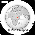 Outline Map of Ārojī, rectangular outline