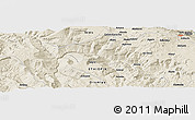 Shaded Relief Panoramic Map of Ārojī