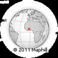 Outline Map of Bidigué, rectangular outline
