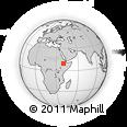 Outline Map of Ankober, rectangular outline