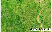 Satellite Map of Kaiama