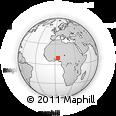 Outline Map of Kaiama, rectangular outline