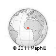 """Outline Map of the Area around 9° 36' 8"""" N, 4° 10' 30"""" W, rectangular outline"""