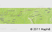 """Physical Panoramic Map of the area around 9°36'8""""N,4°10'30""""W"""