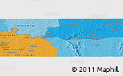 """Political Panoramic Map of the area around 9°36'8""""N,4°10'30""""W"""