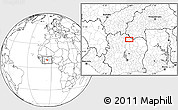 Blank Location Map of Ferkessédougou