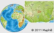 Physical Location Map of Banonon