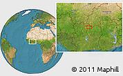 Satellite Location Map of Ferkessédougou