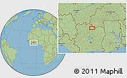 Savanna Style Location Map of Ferkessédougou