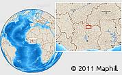 Shaded Relief Location Map of Ferkessédougou