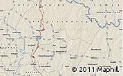 Shaded Relief Map of Ferkessédougou