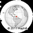 Outline Map of San Agustín, rectangular outline