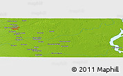 """Physical Panoramic Map of the area around 9°36'8""""N,62°49'30""""W"""