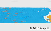 """Political Panoramic Map of the area around 9°36'8""""N,62°49'30""""W"""