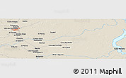 """Shaded Relief Panoramic Map of the area around 9°36'8""""N,62°49'30""""W"""