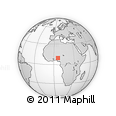 Outline Map of Zungeru, rectangular outline