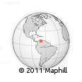 Outline Map of Sabana Libre, rectangular outline