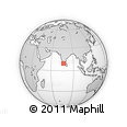 Outline Map of Manimala, rectangular outline