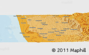 """Political Panoramic Map of the area around 9°36'8""""N,76°34'29""""E"""