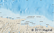 """Shaded Relief Map of the area around 9°36'8""""N,78°58'29""""W"""
