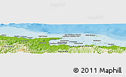 "Physical Panoramic Map of the area around 9° 36' 8"" N, 78° 58' 29"" W"