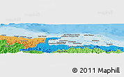 """Political Panoramic Map of the area around 9°36'8""""N,78°58'29""""W"""