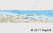 """Shaded Relief Panoramic Map of the area around 9°36'8""""N,78°58'29""""W"""
