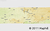 """Physical Panoramic Map of the area around 9°36'8""""N,7°43'29""""E"""