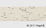 """Shaded Relief Panoramic Map of the area around 9°36'8""""N,7°43'29""""E"""