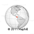 """Outline Map of the Area around 9° 36' 8"""" N, 80° 40' 30"""" W, rectangular outline"""