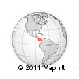 """Outline Map of the Area around 9° 36' 8"""" N, 81° 31' 30"""" W, rectangular outline"""