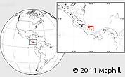 Blank Location Map of Changuinola