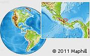 Physical Location Map of Changuinola