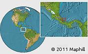 Satellite Location Map of Changuinola
