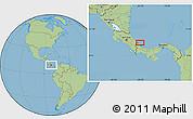 Savanna Style Location Map of Changuinola