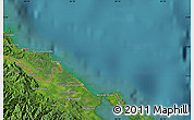"""Satellite Map of the area around 9°36'8""""N,82°22'30""""W"""