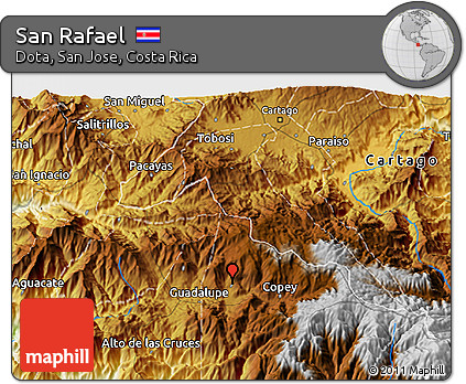 Physical 3D Map of San Rafael
