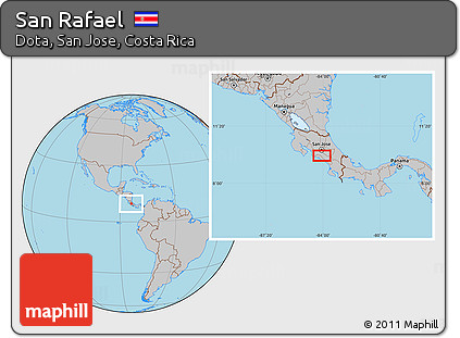 Gray Location Map of San Rafael