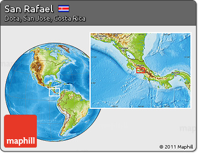 Physical Location Map of San Rafael