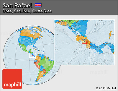Political Location Map of San Rafael