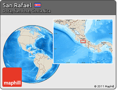 Shaded Relief Location Map of San Rafael
