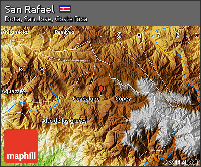 Physical Map of San Rafael