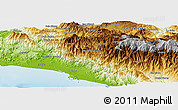 Physical Panoramic Map of Río Claro